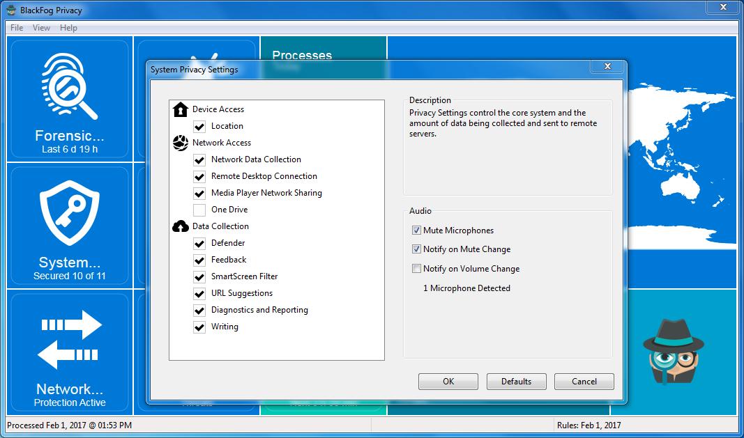 BlackFog for Windows System Options