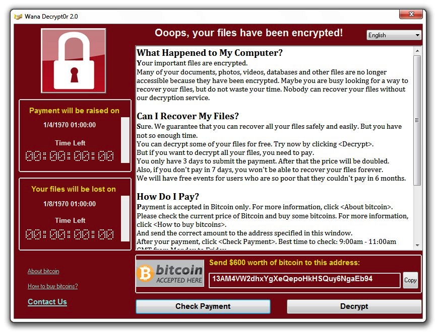 WannaCry Ransomware and the NHS attack
